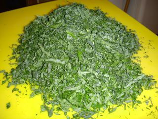 Shredded kale